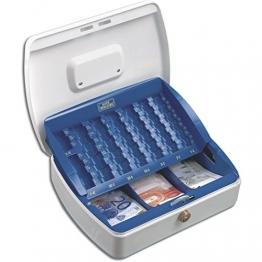 Geldkassette für Banknoten und Münzen, Ideal für die Aufbewahrung in Schubladen, Maße: 330 x 235 x 75 mm - 1